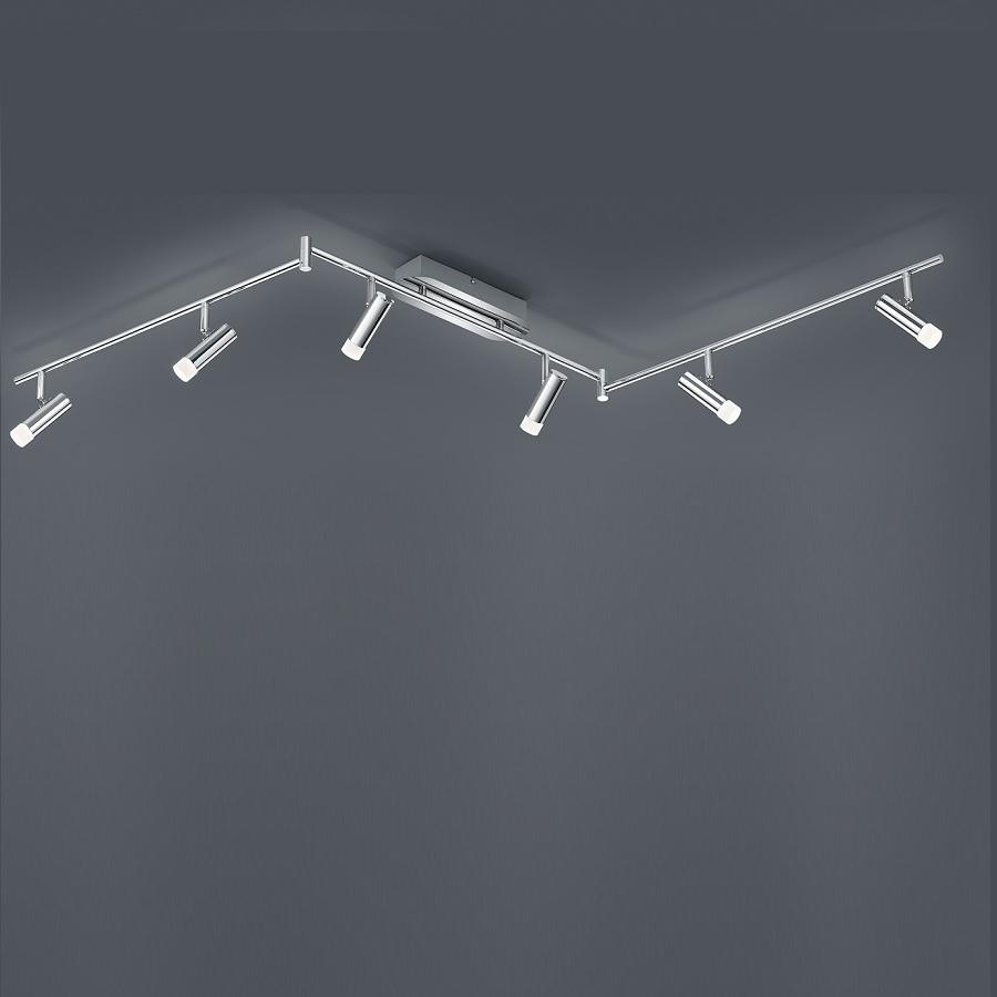 led deckenleuchte zidane verstellbar chrom 6 flammig wohnlicht. Black Bedroom Furniture Sets. Home Design Ideas