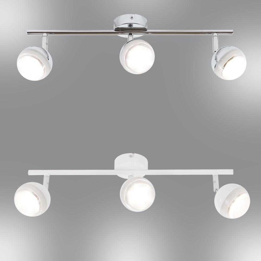 LHG LED Deckenstrahler 3 flg   Chrom oder Weiß, hochwertige Qualität   WOHNLICHT