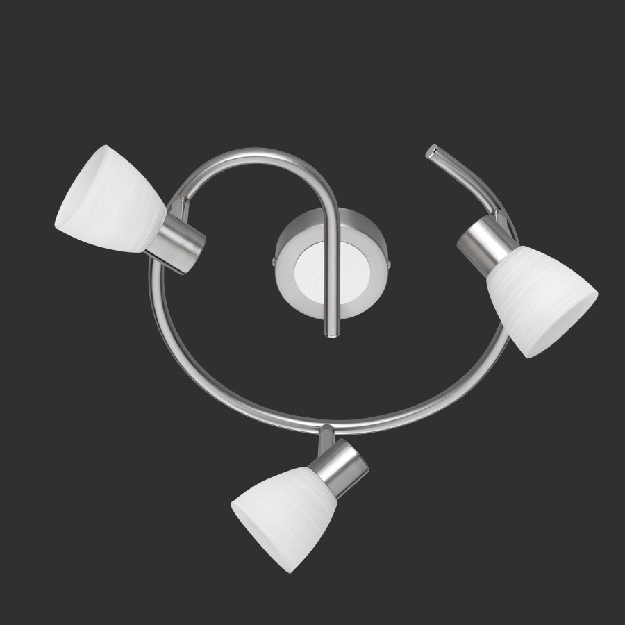 LED Deckenstrahler Carico Rondel in Nickel matt / Chrom, 3 flg   WOHNLICHT