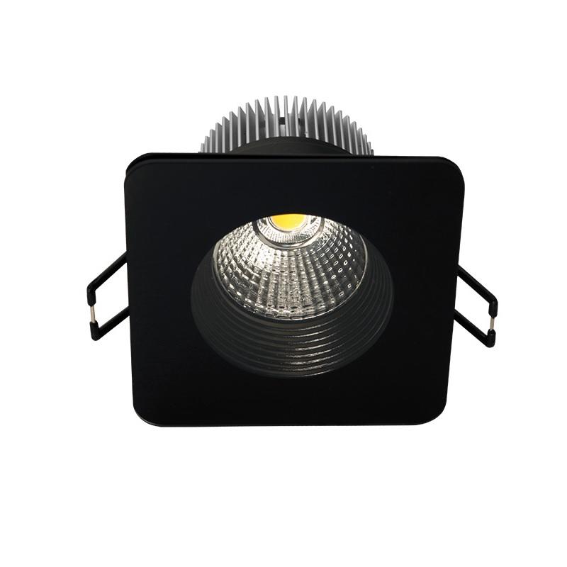 led einbau downlight f r die decke aluminium glas eckig schwarz eckig schwarz 8 30 cm 8. Black Bedroom Furniture Sets. Home Design Ideas