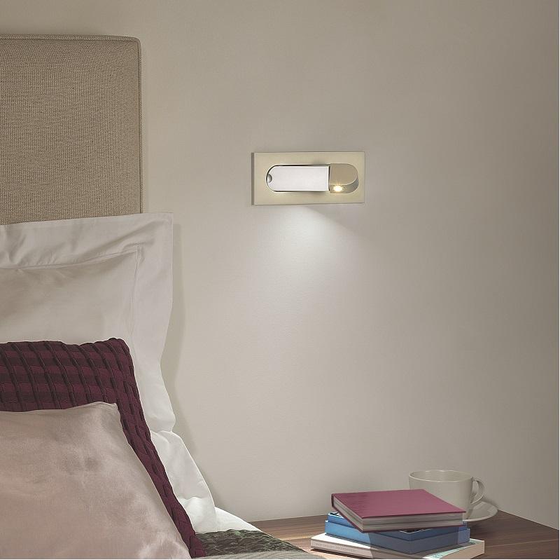 led einbau wandstrahler digit mit integriertem schalter wohnlicht. Black Bedroom Furniture Sets. Home Design Ideas
