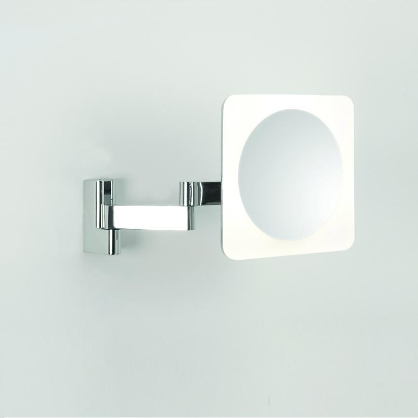 Led kosmestikspiegel nimi square in chrom wohnlicht - Badezimmerlampen spiegel ...