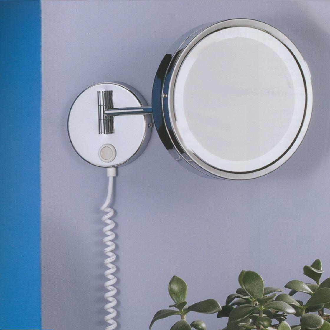 led kosmetikspiegel in chrom mit 3 fach vergr erung ip 44 inklusive led leuchtmittel. Black Bedroom Furniture Sets. Home Design Ideas