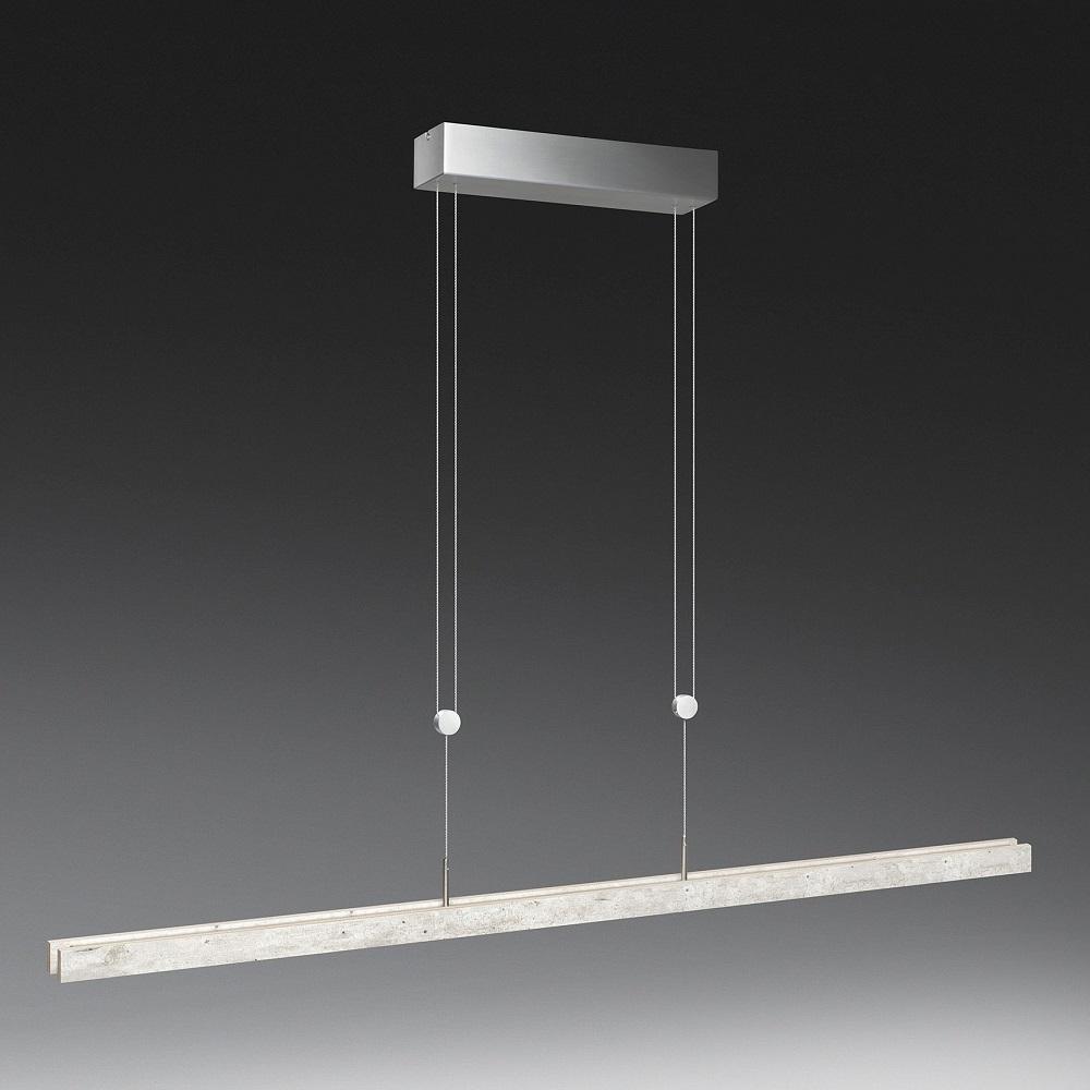 led pendelleuchte in aluminium matt beton optik 2. Black Bedroom Furniture Sets. Home Design Ideas