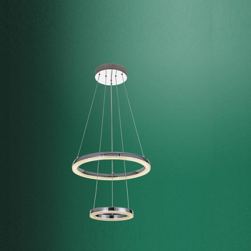 led pendelleuchte in chrom mit k5 kristallen 45cm 1x 36 watt 45 00 cm wohnlicht. Black Bedroom Furniture Sets. Home Design Ideas