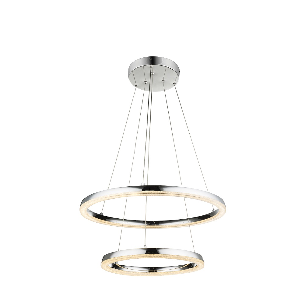 led pendelleuchte in chrom mit k5 kristallen 2 gr en wohnlicht. Black Bedroom Furniture Sets. Home Design Ideas