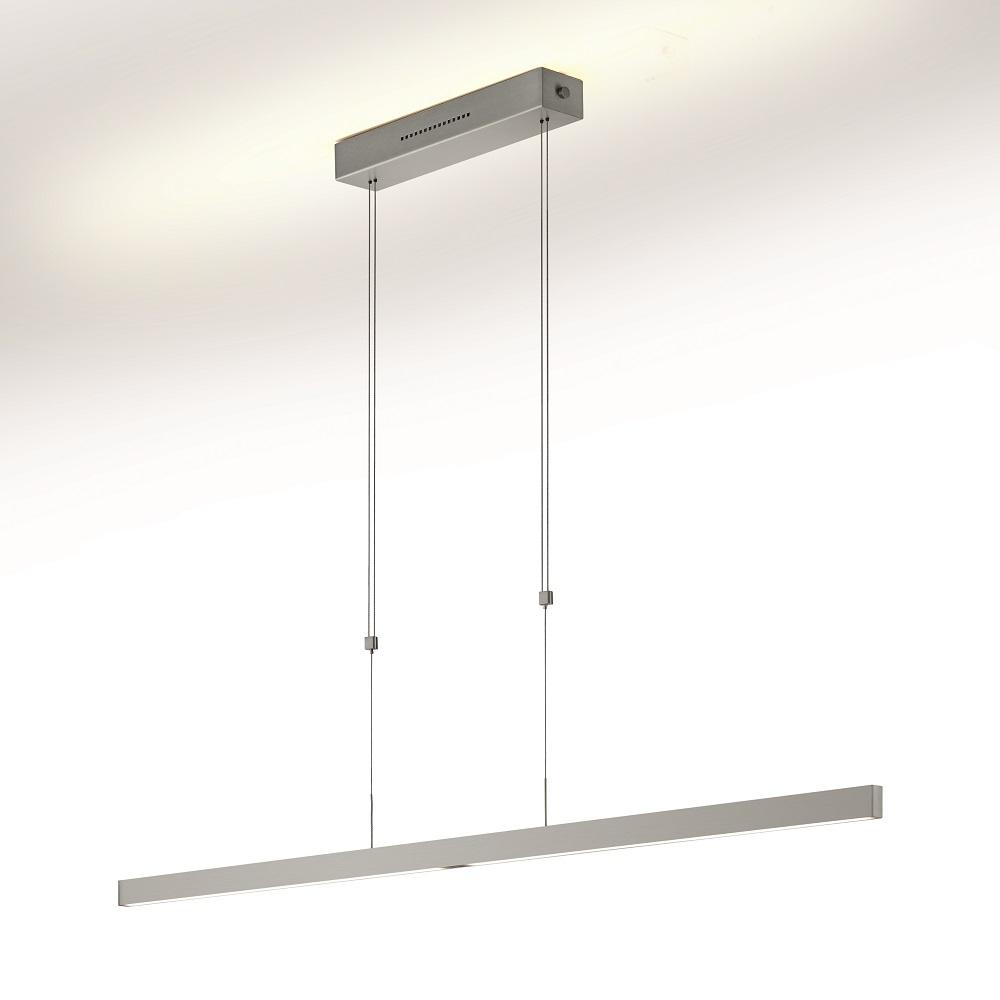 led pendelleuchte mit sensor dimmer nickel matt 128 cm 1x 39 watt 128 00 cm wohnlicht. Black Bedroom Furniture Sets. Home Design Ideas