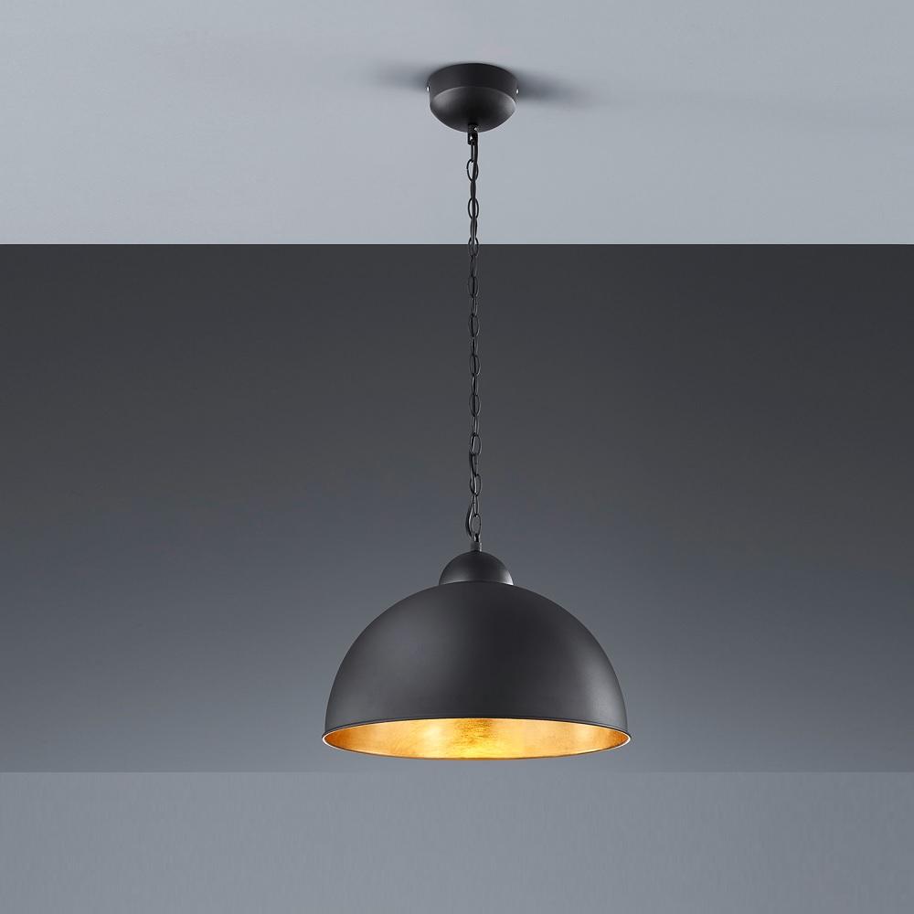 led pendelleuchte romino rund 40 cm schwarz gold wohnlicht. Black Bedroom Furniture Sets. Home Design Ideas