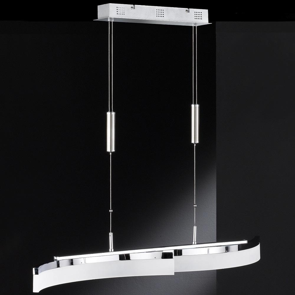 led pendelleuchte tangenz h henverstellbar chrom. Black Bedroom Furniture Sets. Home Design Ideas