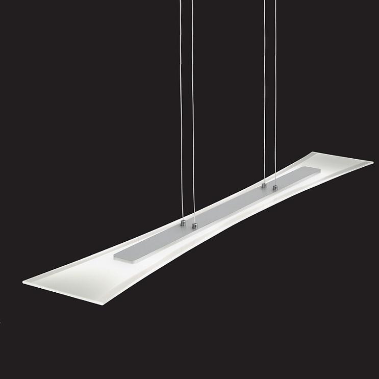 led pendelleuchte aluminium geb rstet und teilsatiniertes glas wohnlicht. Black Bedroom Furniture Sets. Home Design Ideas