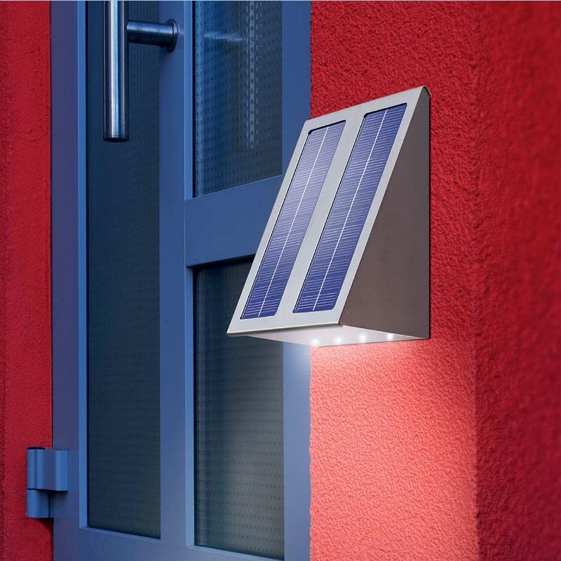 led solar wandleuchte mit lichtstrahlrichtung boden wohnlicht. Black Bedroom Furniture Sets. Home Design Ideas