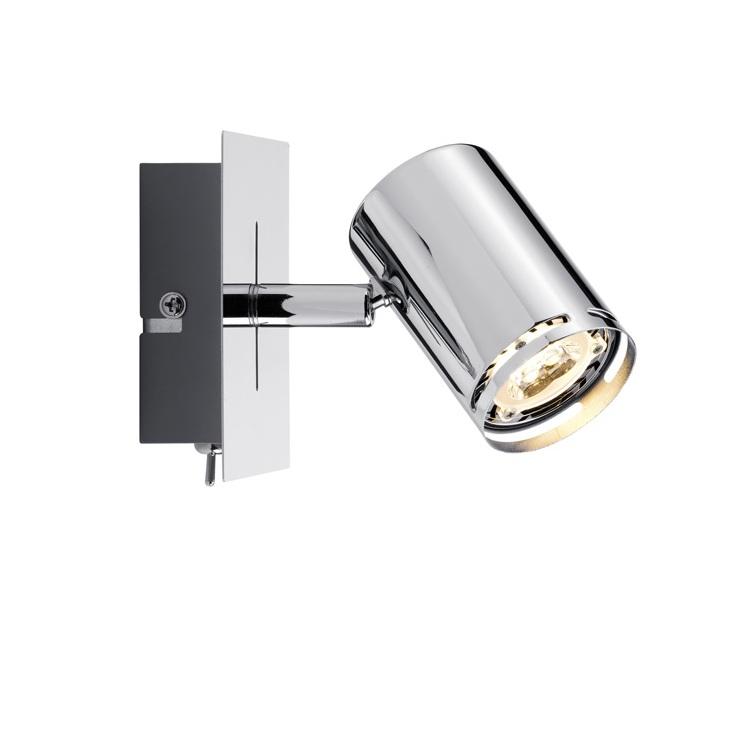 led strahler rondo in chrom f r gu10 leuchtmittel wohnlicht. Black Bedroom Furniture Sets. Home Design Ideas