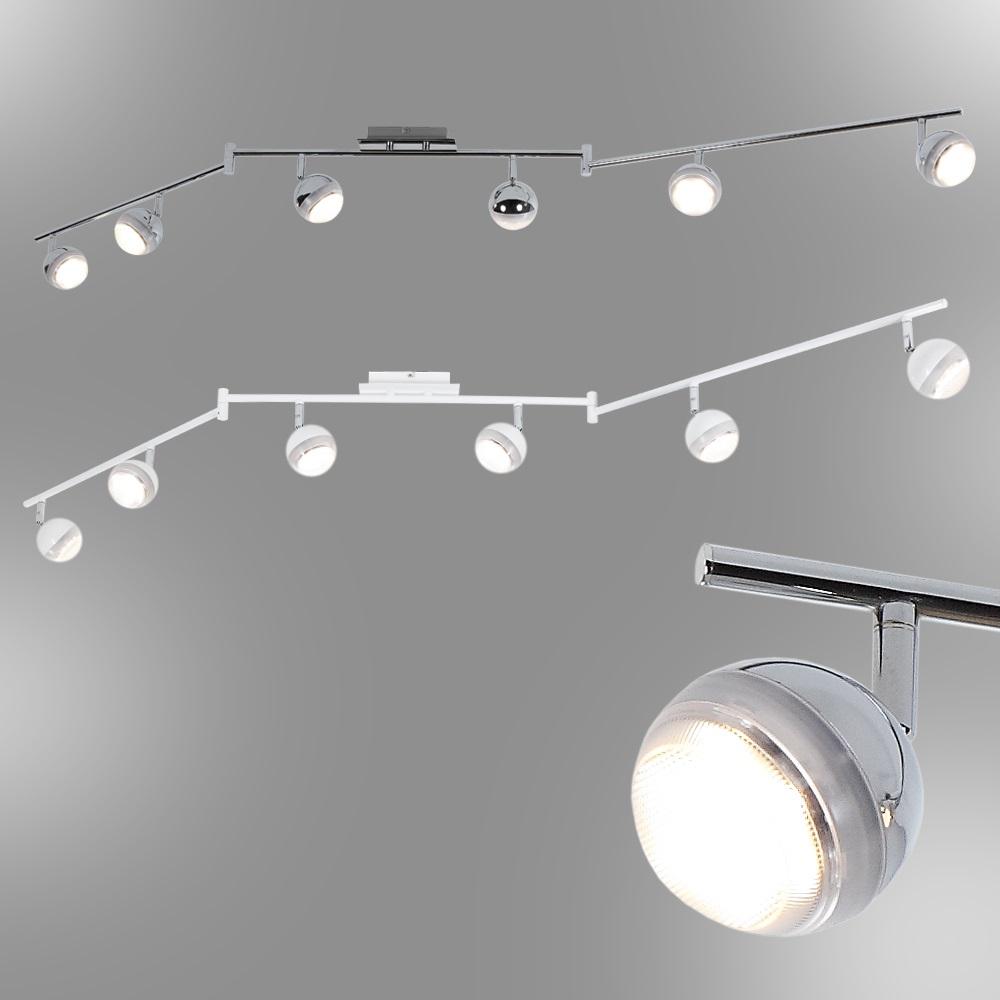 led strahlerserie deckenstrahler 6 flammig chrom. Black Bedroom Furniture Sets. Home Design Ideas