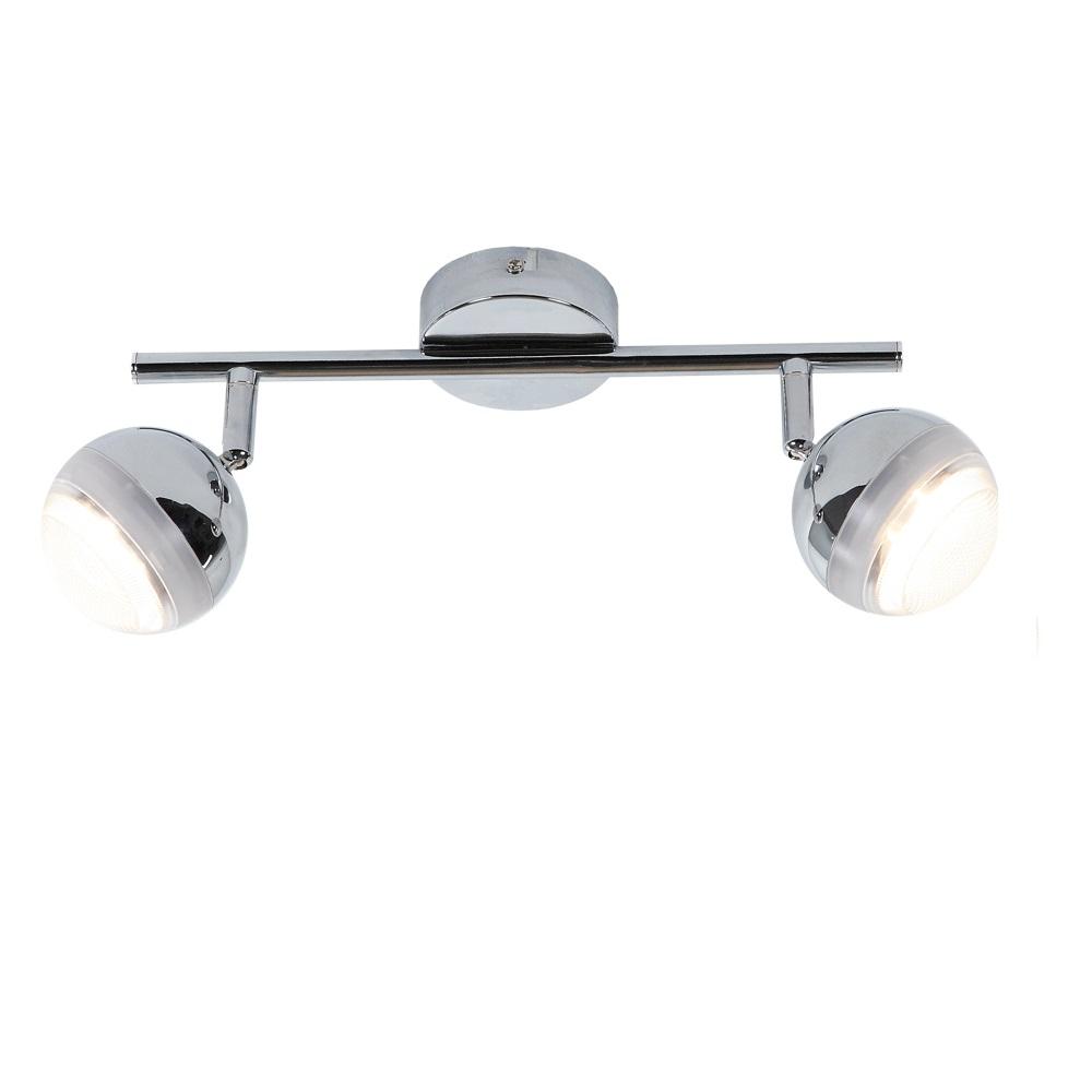 led strahlerserie wand oder deckenstrahler 2 flammig chrom 2x 5 watt chrom wohnlicht. Black Bedroom Furniture Sets. Home Design Ideas
