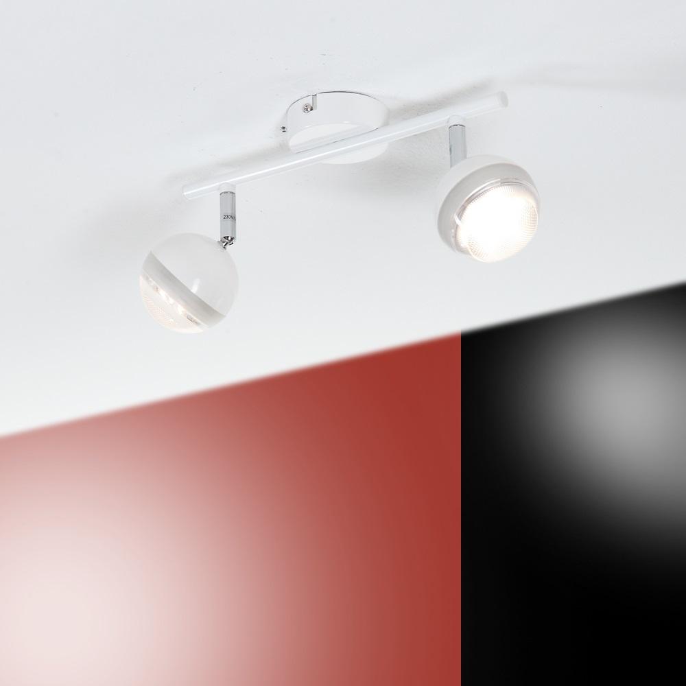 led strahlerserie wand oder deckenstrahler 2 flammig wei wei wohnlicht. Black Bedroom Furniture Sets. Home Design Ideas