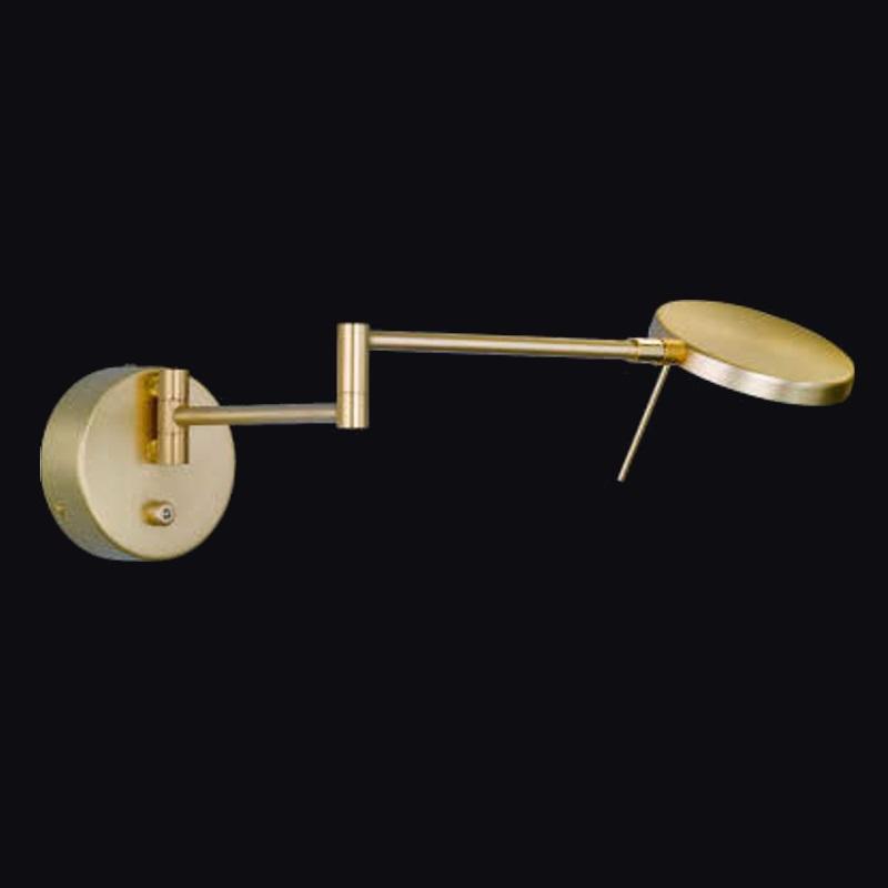 led wandlampe dimmbar und schwenkbar in messing matt. Black Bedroom Furniture Sets. Home Design Ideas