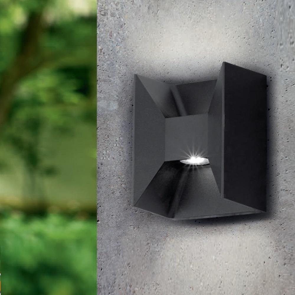 led wandleuchte eckig up down verschiedene farben w hlbar wohnlicht. Black Bedroom Furniture Sets. Home Design Ideas