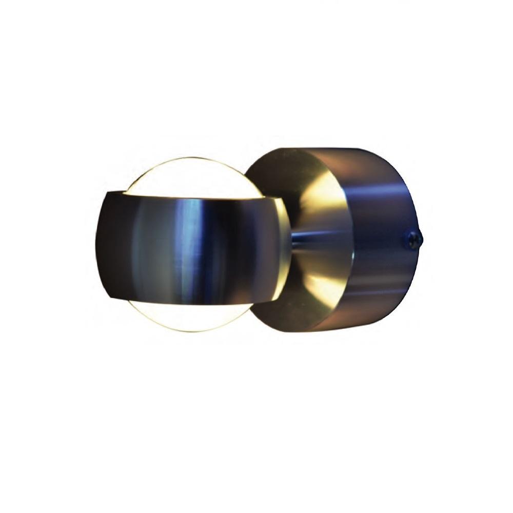led wandleuchte in edelstahl up down 2x3 watt wohnlicht. Black Bedroom Furniture Sets. Home Design Ideas