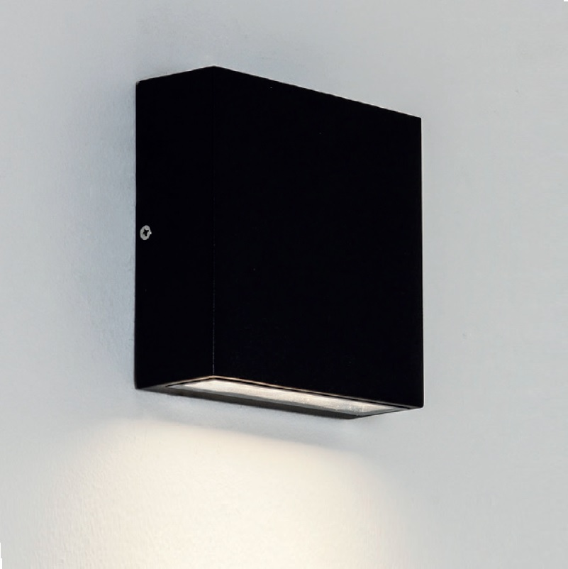 led wandleuchte elis eckig downlight in 2 farben wohnlicht. Black Bedroom Furniture Sets. Home Design Ideas