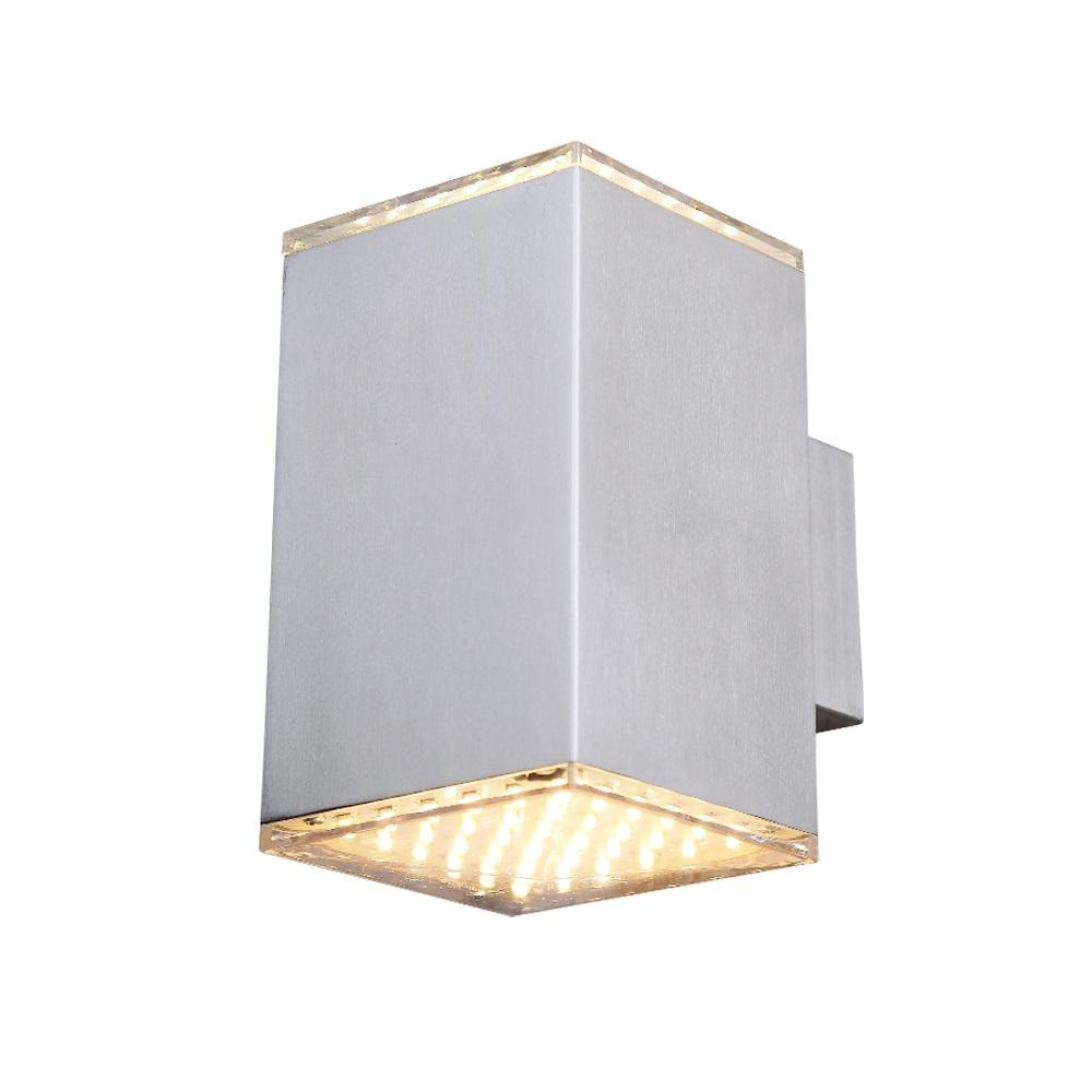 led wandleuchte f r innen und au en aus edelstahl und klarem acrylglas wohnlicht. Black Bedroom Furniture Sets. Home Design Ideas