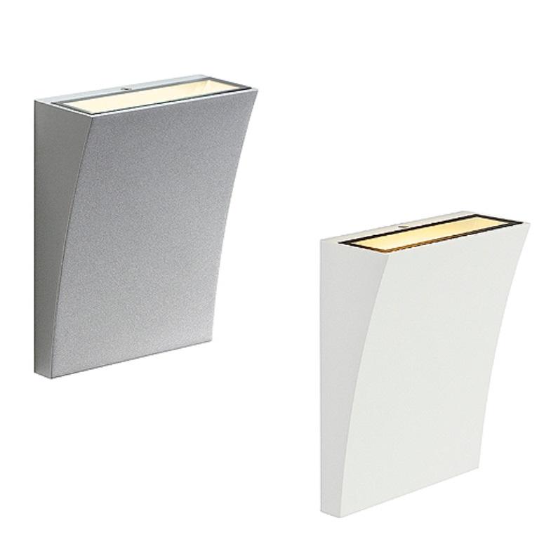 led wandleuchte f r innen und au en mit lichtaustritt nach unten oder oben in zwei farben. Black Bedroom Furniture Sets. Home Design Ideas