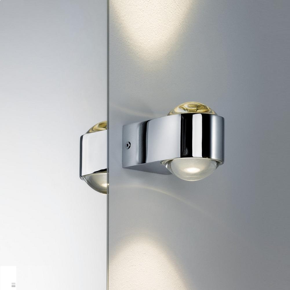 led wandleuchte mit up and down lichtaustritt inklusive 2x 3 5 watt led 2700 k warmwei. Black Bedroom Furniture Sets. Home Design Ideas