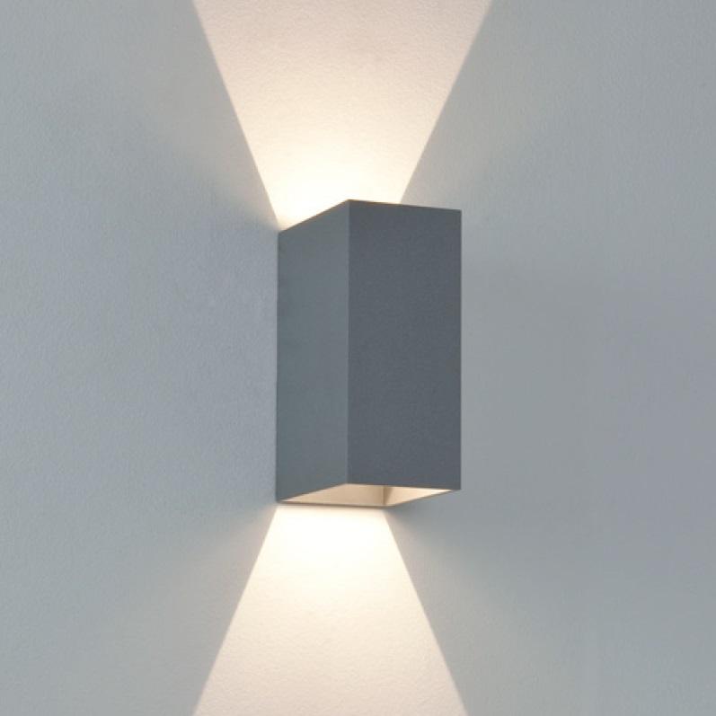 led wandleuchte mit up and down lichtaustritt in silber silber wohnlicht. Black Bedroom Furniture Sets. Home Design Ideas