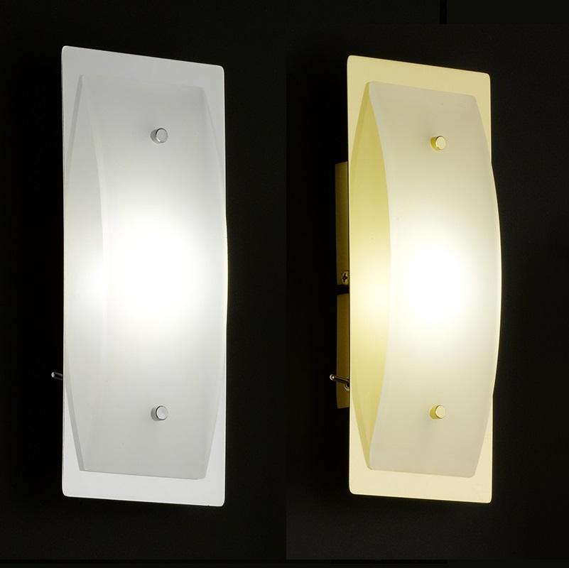 led wandleuchte mit schalter in chrom oder messing wohnlicht. Black Bedroom Furniture Sets. Home Design Ideas