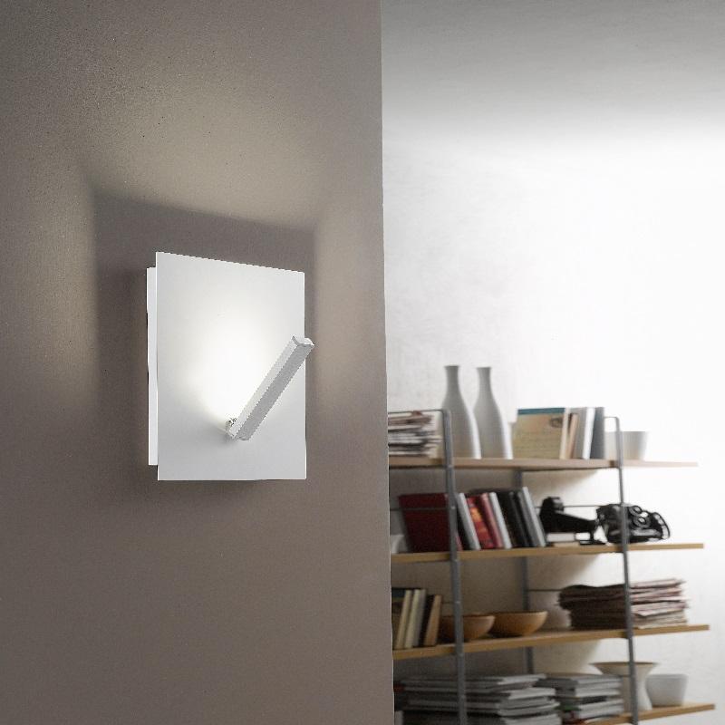 led wandleuchte in wei 1 flg schwenkbar wohnlicht. Black Bedroom Furniture Sets. Home Design Ideas