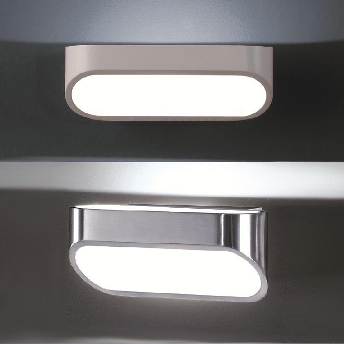 led wandleuchte in wei matt oder aluminium wei matt 6w led wohnlicht. Black Bedroom Furniture Sets. Home Design Ideas