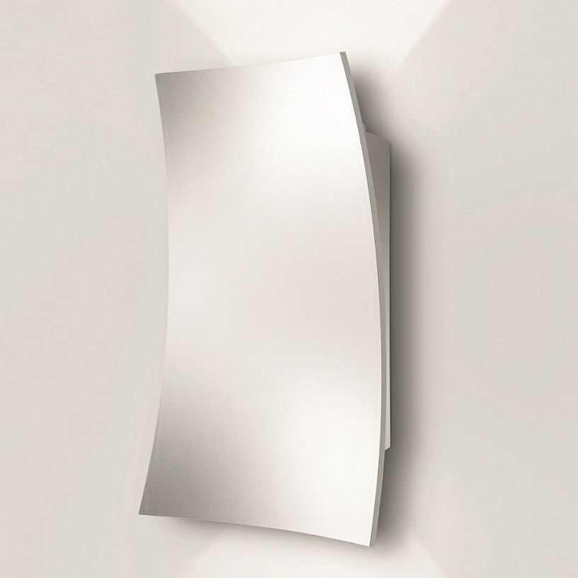 led wandleuchte aluminium 2 oberfl chen chrom oder. Black Bedroom Furniture Sets. Home Design Ideas