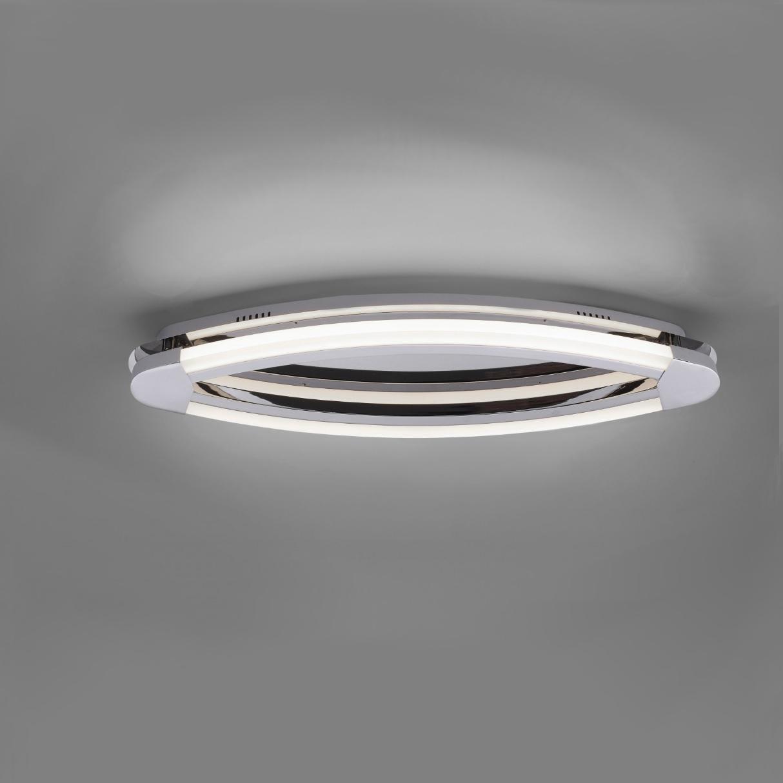 led wand oder deckenleuchte in chrom inklusive leds wohnlicht. Black Bedroom Furniture Sets. Home Design Ideas