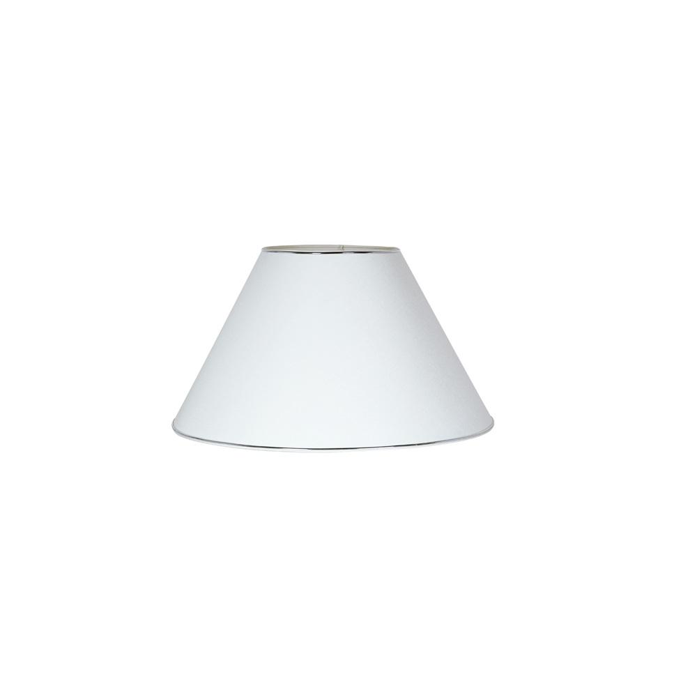 leuchtenschirm chintz wei mit silberkante e27 fassung. Black Bedroom Furniture Sets. Home Design Ideas
