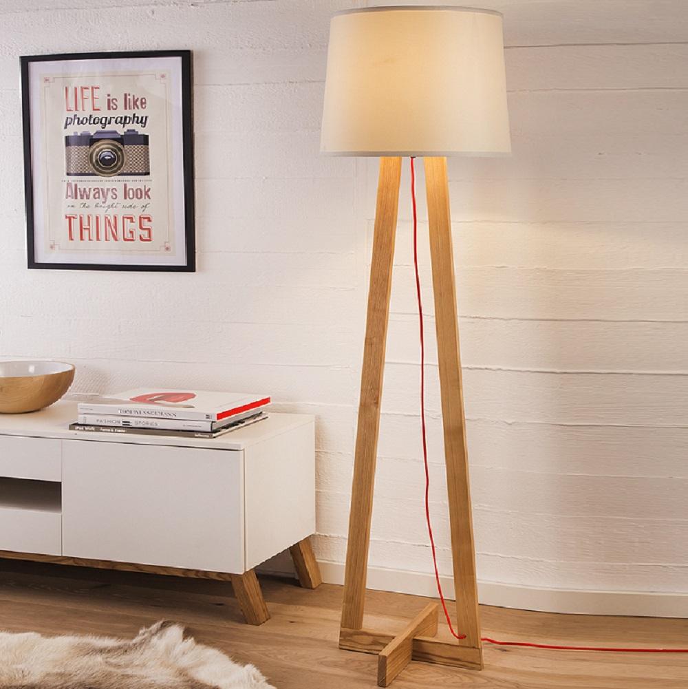 my light stehleuchte mannheim mit holz wohnlicht. Black Bedroom Furniture Sets. Home Design Ideas