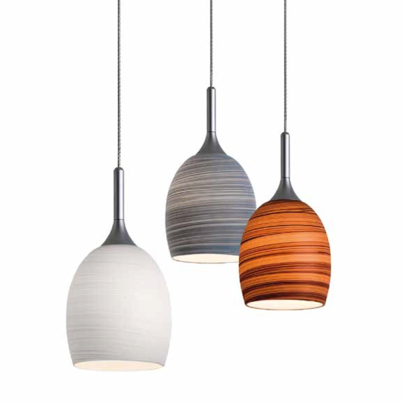 magnetline pendelleuchte mit gewischtem glas in wei grau oder schoko wohnlicht. Black Bedroom Furniture Sets. Home Design Ideas