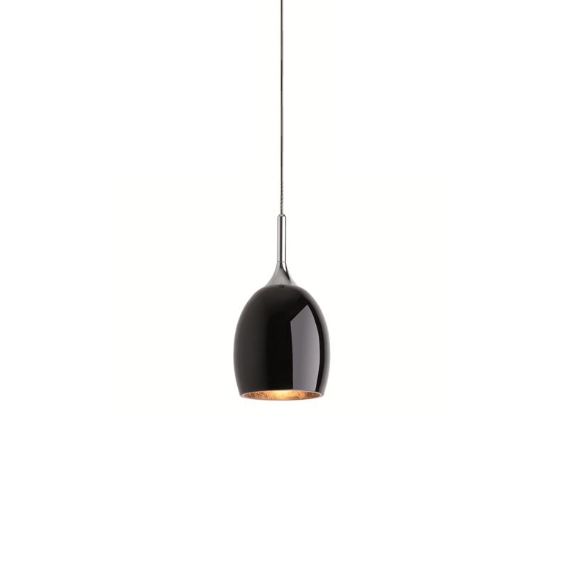magnetline pendelleuchte in silber matt mit schwarzem glas mit blattgold gold schwarz silber. Black Bedroom Furniture Sets. Home Design Ideas