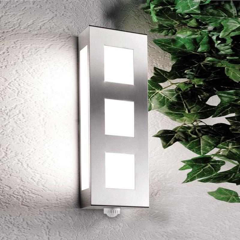 moderne aussenwandleuchte mit bewegungsmelder wohnlicht. Black Bedroom Furniture Sets. Home Design Ideas