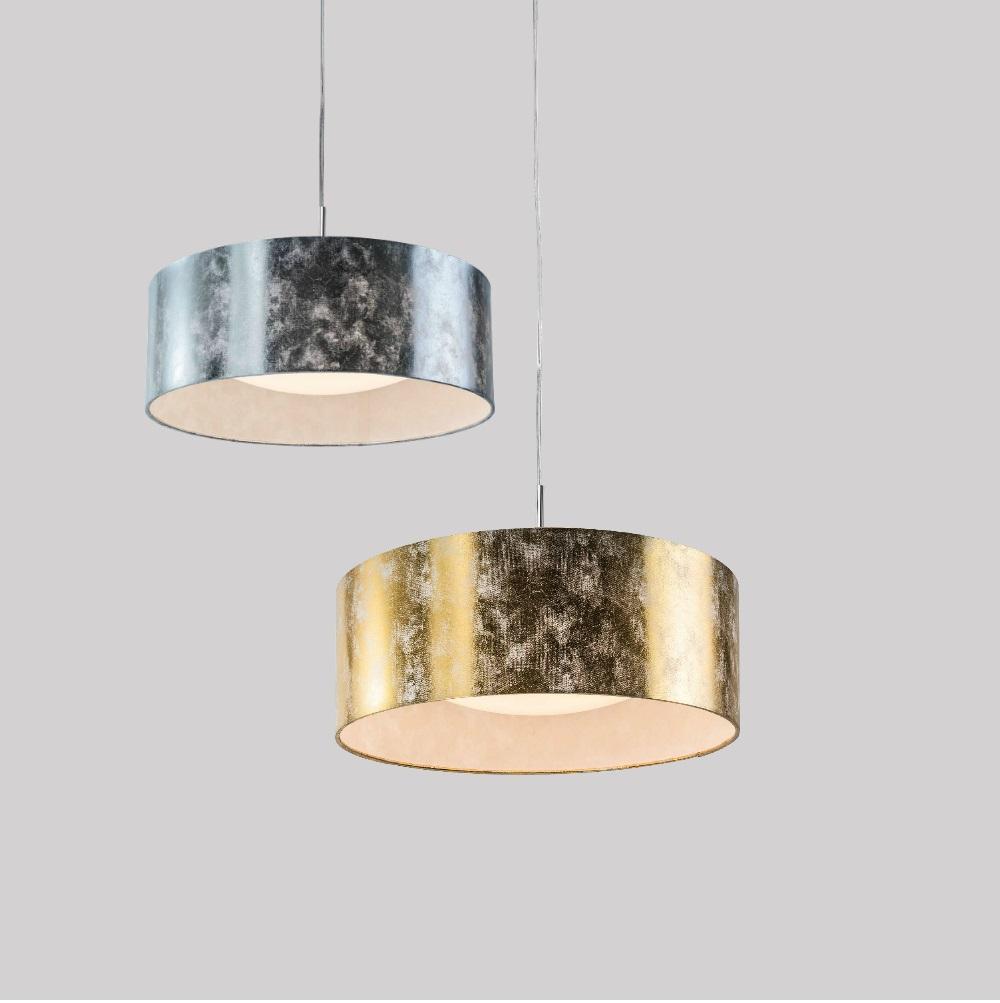 Moderne led pendelleuchte 42cm in silber oder gold for Moderne pendelleuchte led
