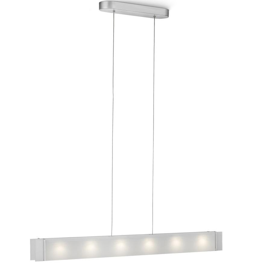 moderne led pendelleuchte aluminium glas wei wohnlicht. Black Bedroom Furniture Sets. Home Design Ideas