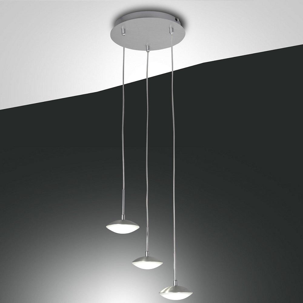 Moderne led pendelleuchte 3 flammig aluminium for Moderne pendelleuchte led