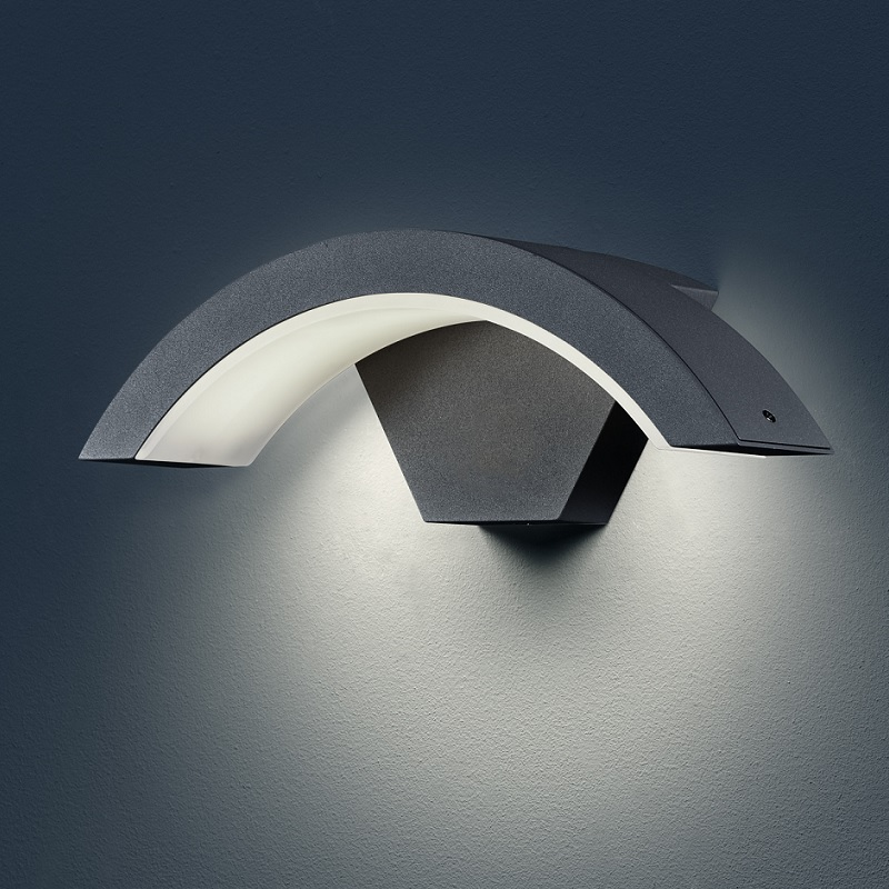 moderne led au en wandleuchte harlem in anthrazit. Black Bedroom Furniture Sets. Home Design Ideas