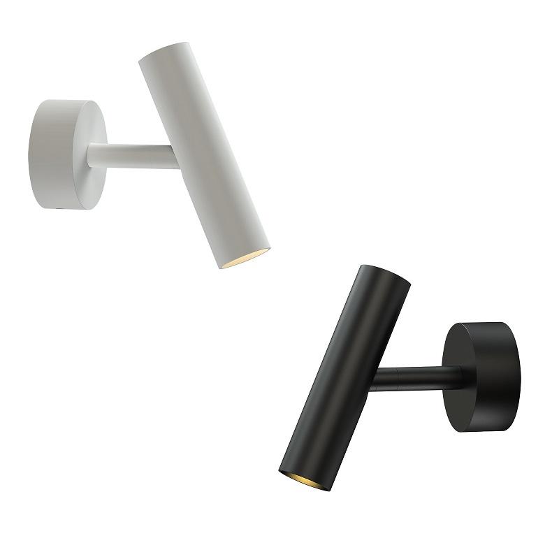 moderne led wandleuchte mit 1 80m langen kabel in schwarz. Black Bedroom Furniture Sets. Home Design Ideas