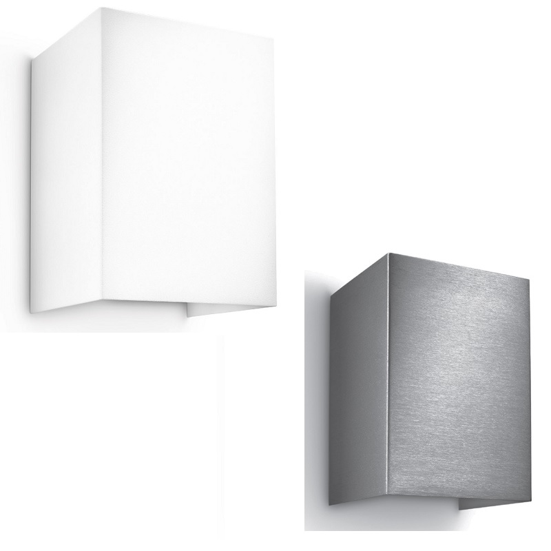 moderne led wandleuchte lichtaustritt oben und unten metall 2 oberfl chen inklusive led. Black Bedroom Furniture Sets. Home Design Ideas