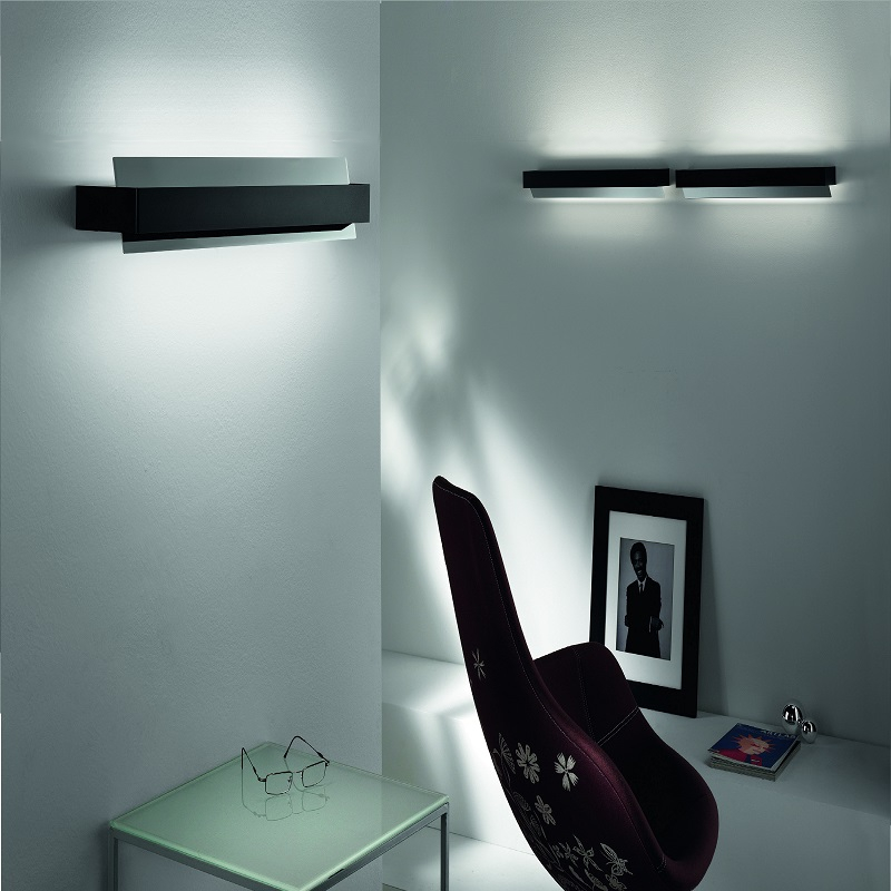 moderne led wandleuchte up down inklusive 6x led. Black Bedroom Furniture Sets. Home Design Ideas