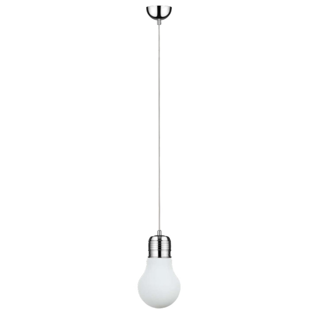 moderne pendelleuchte bulb gl hbirne wei chrom wohnlicht. Black Bedroom Furniture Sets. Home Design Ideas