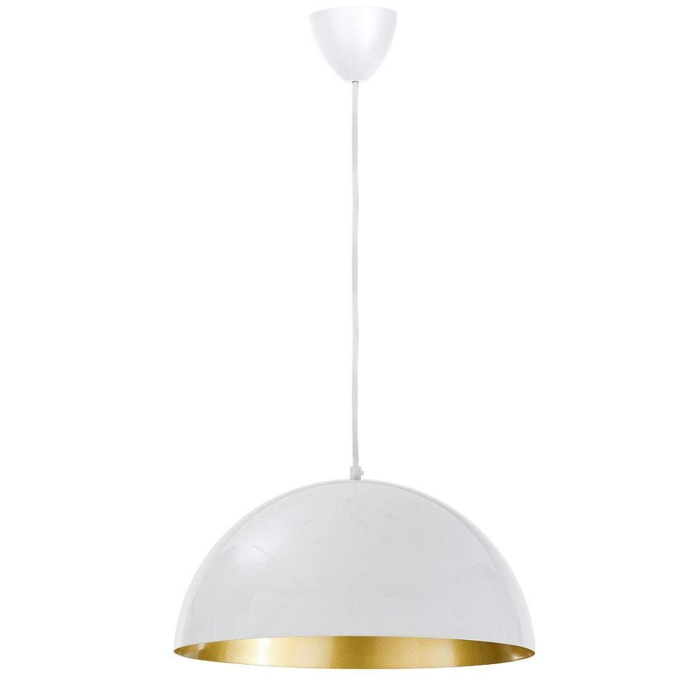 moderne pendelleuchte metall wei innen gold f r leuchtmittel e27 60 watt wohnlicht. Black Bedroom Furniture Sets. Home Design Ideas
