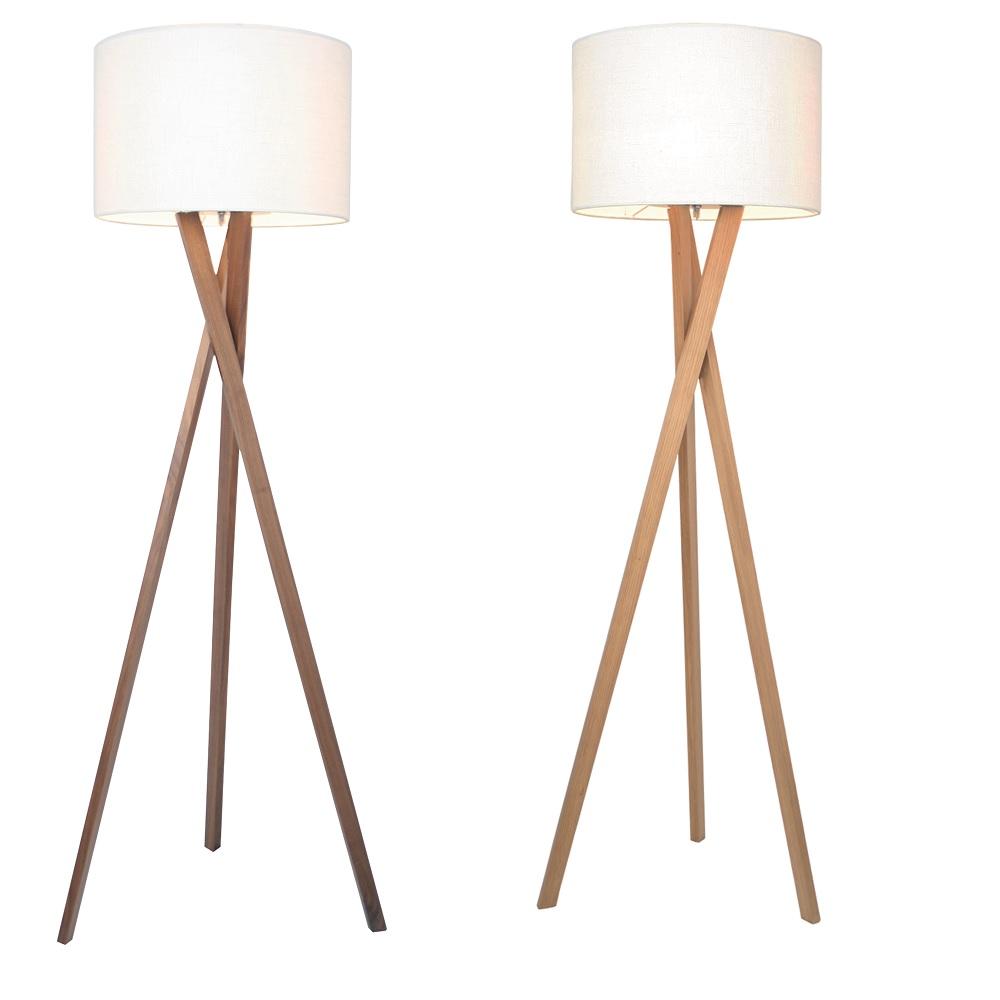 moderne stehleuchte vega eiche oder nu baum wohnlicht. Black Bedroom Furniture Sets. Home Design Ideas