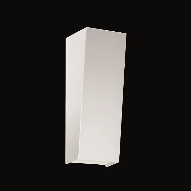 moderne wandleuchte schlichtes design wei matt wohnlicht. Black Bedroom Furniture Sets. Home Design Ideas