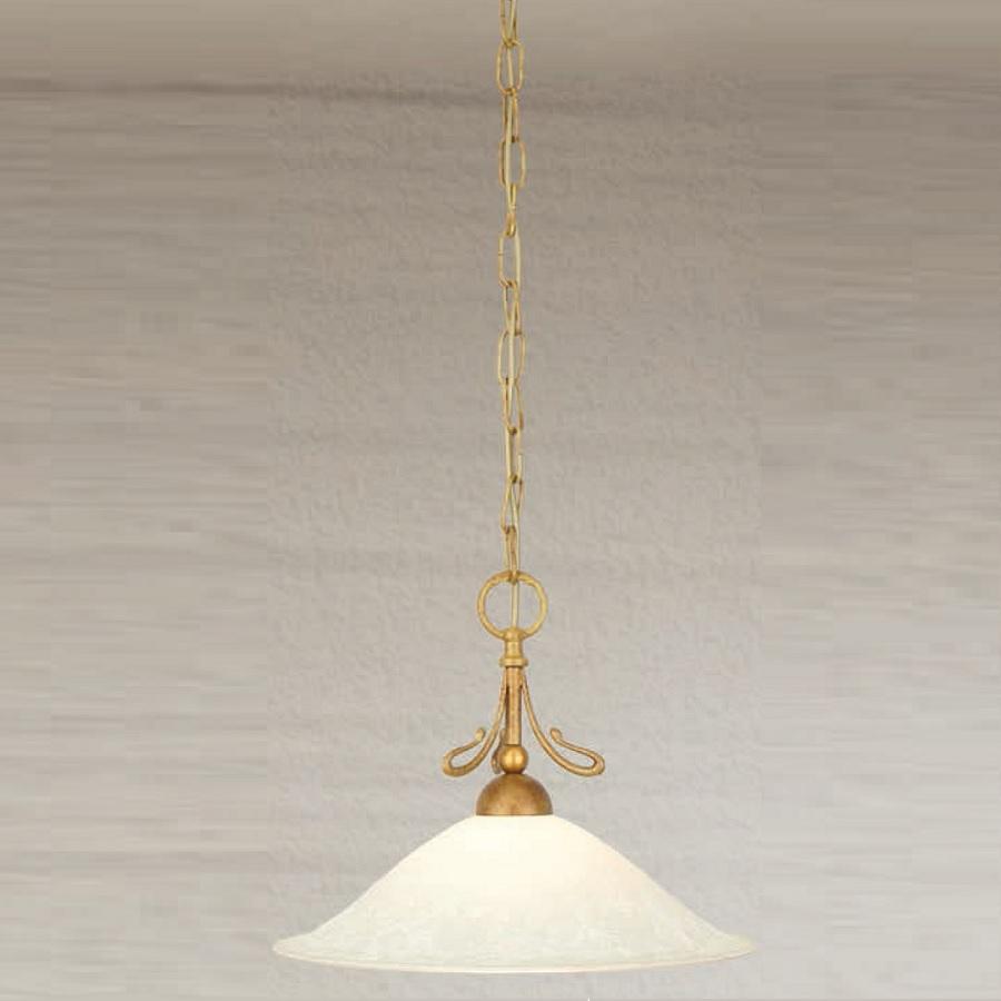 pendelleuchte 1 flammig messing antik scavoglas creme 37 cm 37 00 cm wohnlicht. Black Bedroom Furniture Sets. Home Design Ideas