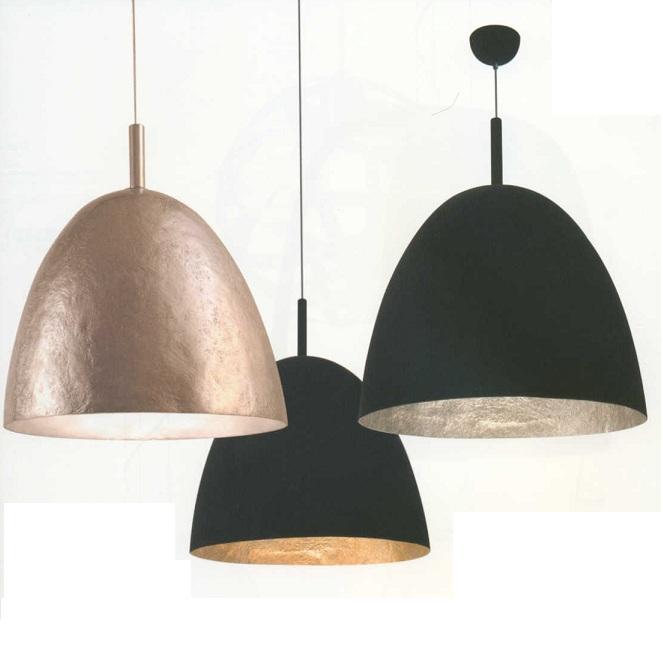 pendelleuchte 40cm innen gold oder silber mit schwarzem samtbezug oder komplett in silber. Black Bedroom Furniture Sets. Home Design Ideas
